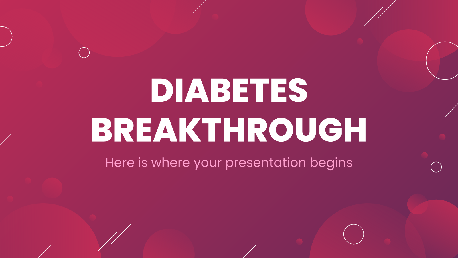 Diabetes Breakthrough presentation template