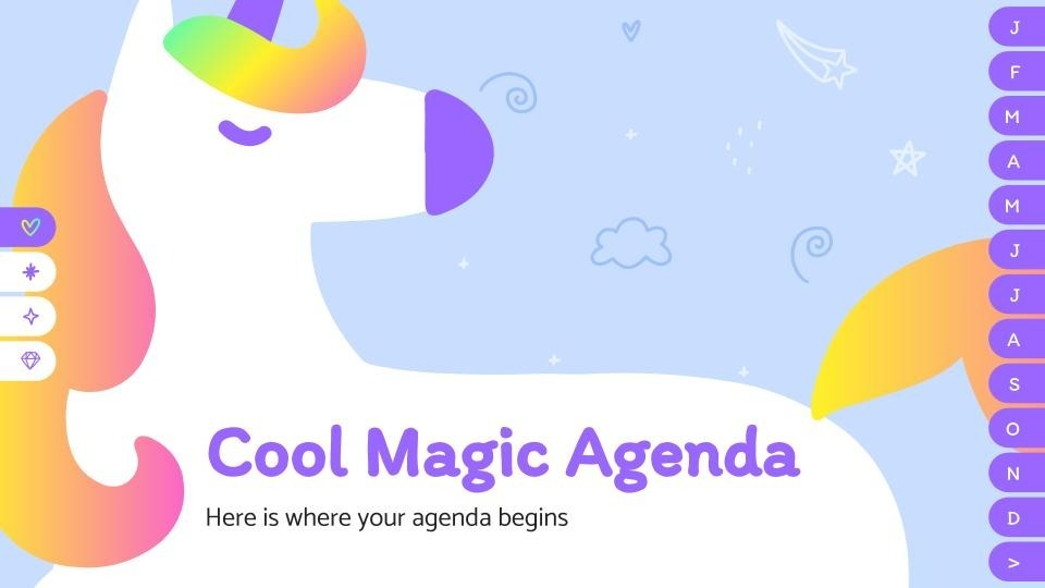 Cool magic agenda presentation template