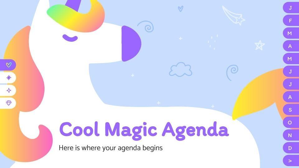 Modelo de apresentação Agenda mágica