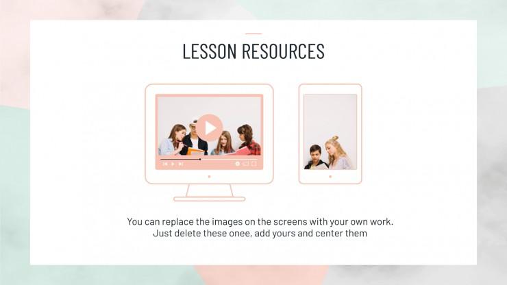Planificateur hebdomadaire lycée minimaliste : Modèles de présentation