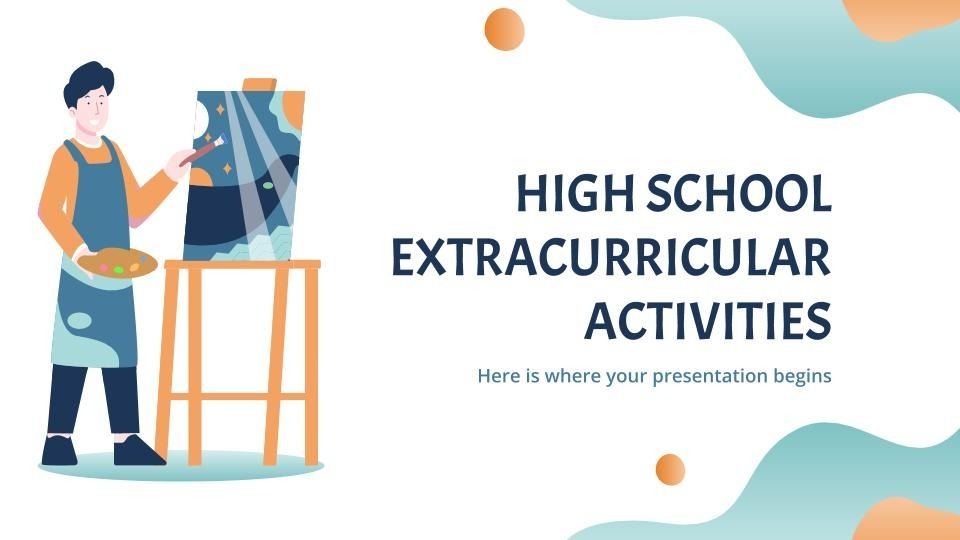 High school extracurricular activities presentation template