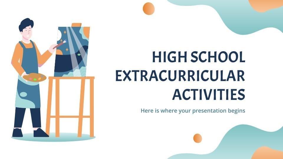Plantilla de presentación Actividades extracurriculares de instituto