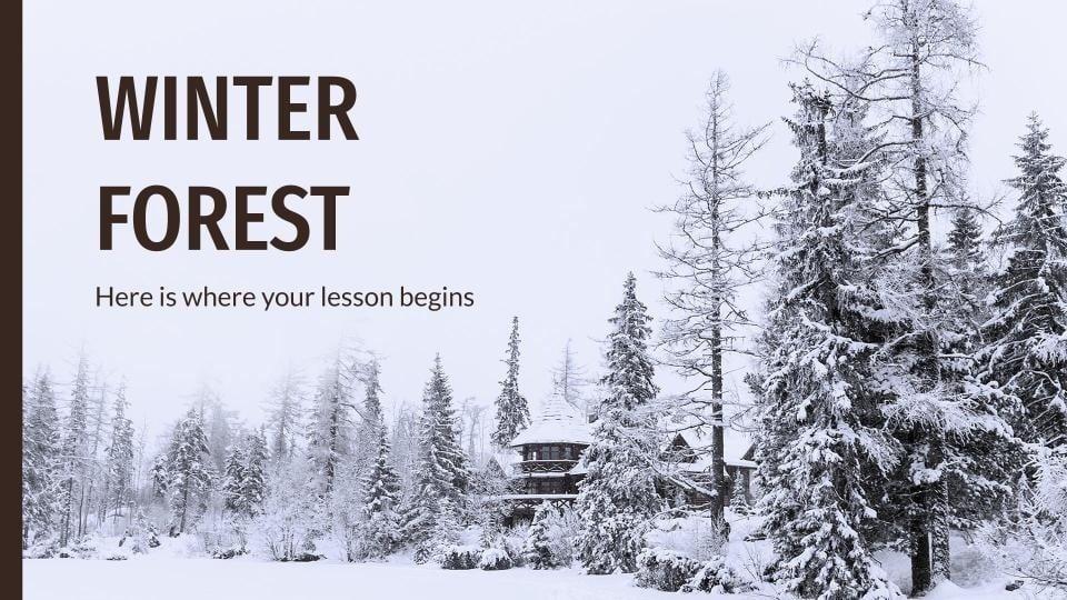 Modelo de apresentação Bosque de inverno