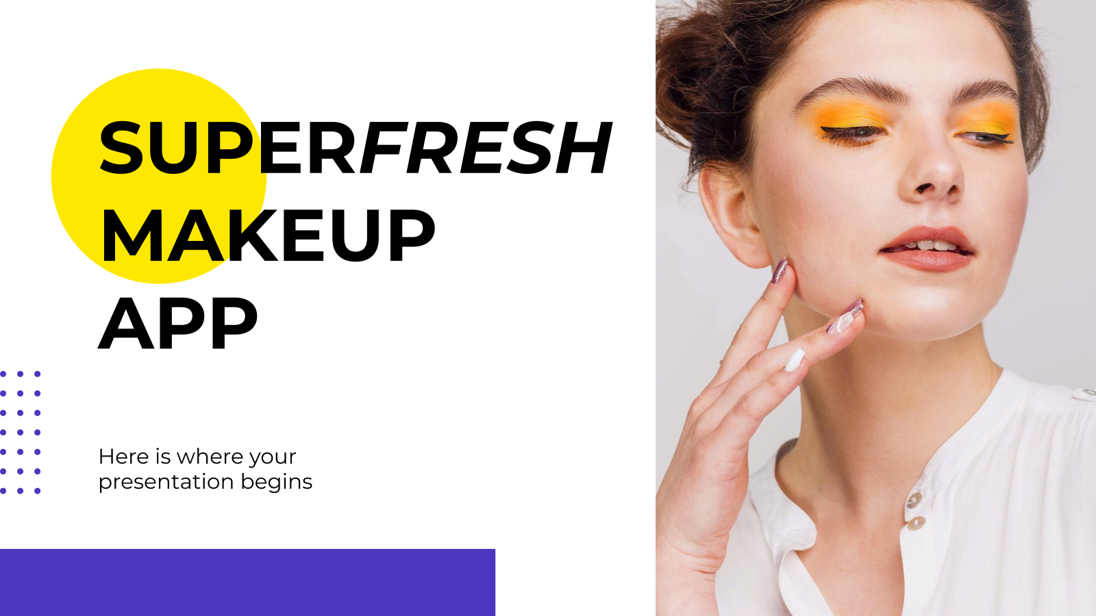 Super Fresh Makeup Shop App presentation template