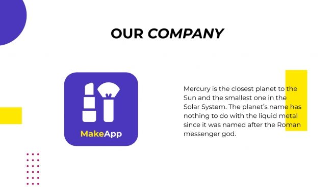 App. de magasin de maquillage super frais : Modèles de présentation