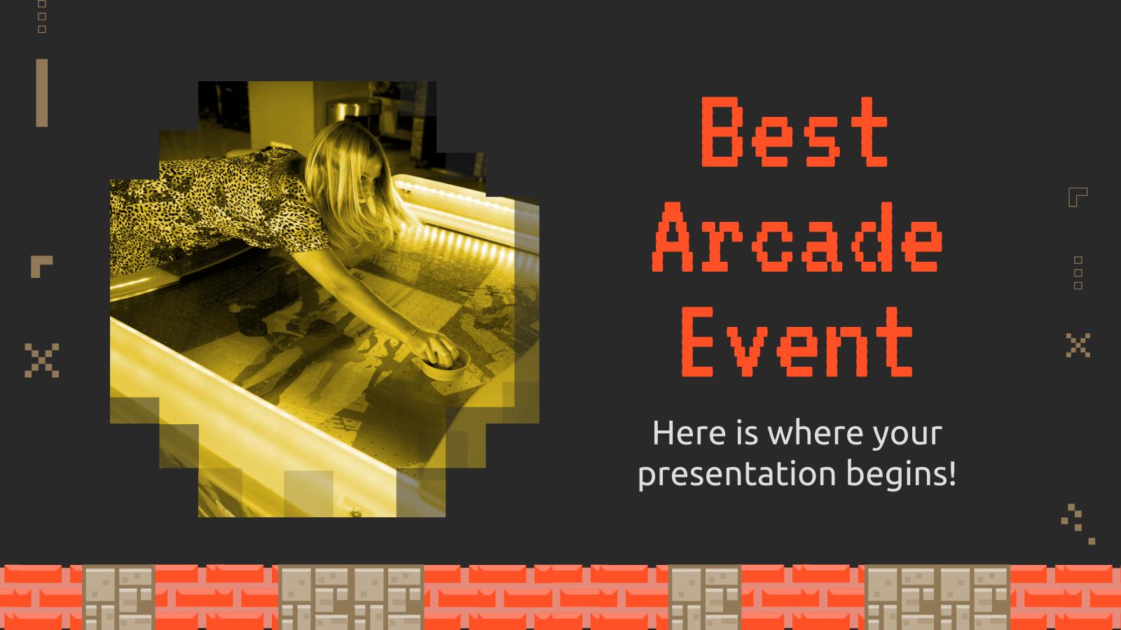 Plantilla de presentación Mejor evento arcade
