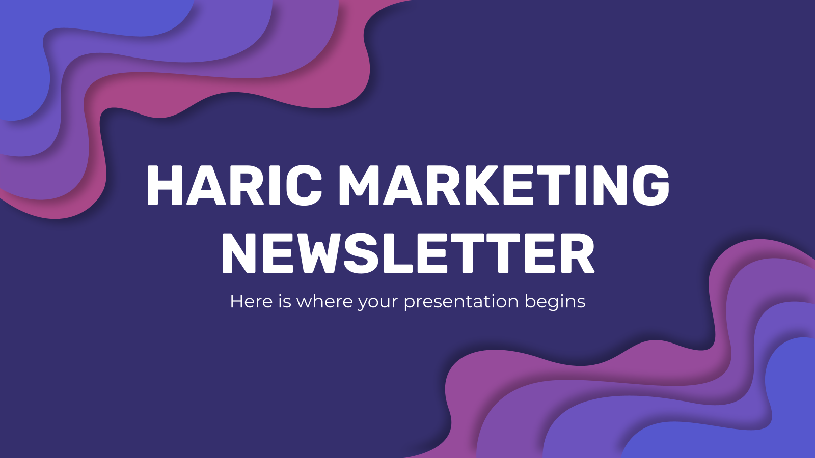 Haric Marketing Newsletter presentation template