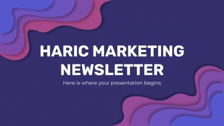 Haric Marketing Newsletter presentation template