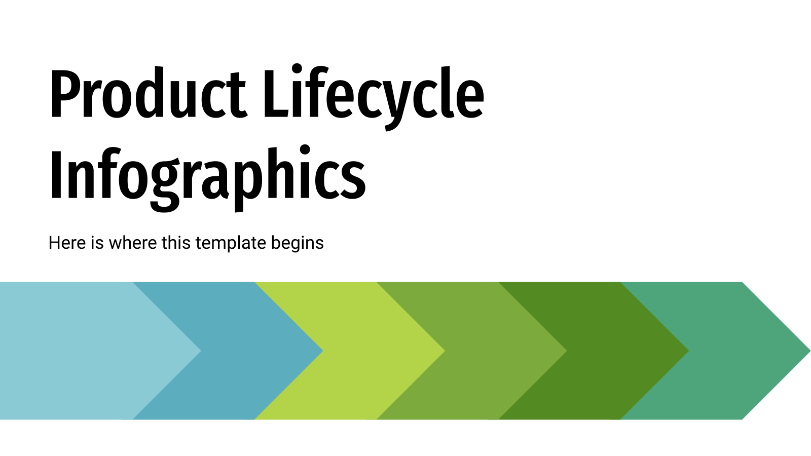 Product Lifecycle Infographics presentation template