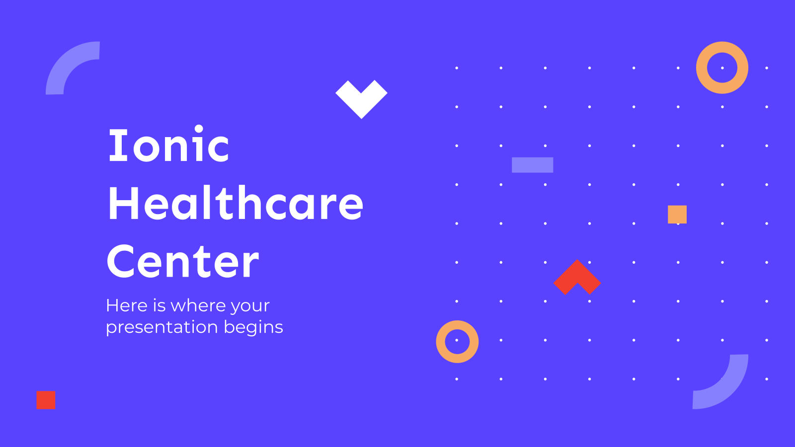 Ionic Healthcare Center presentation template