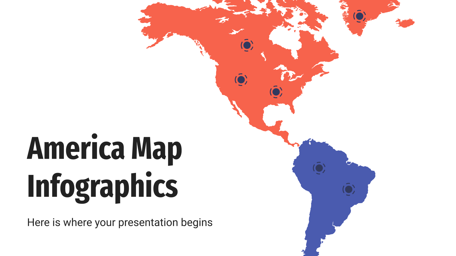 America map infographics presentation template