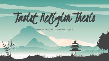 Thèse sur la religion taoïste : Modèles de présentation
