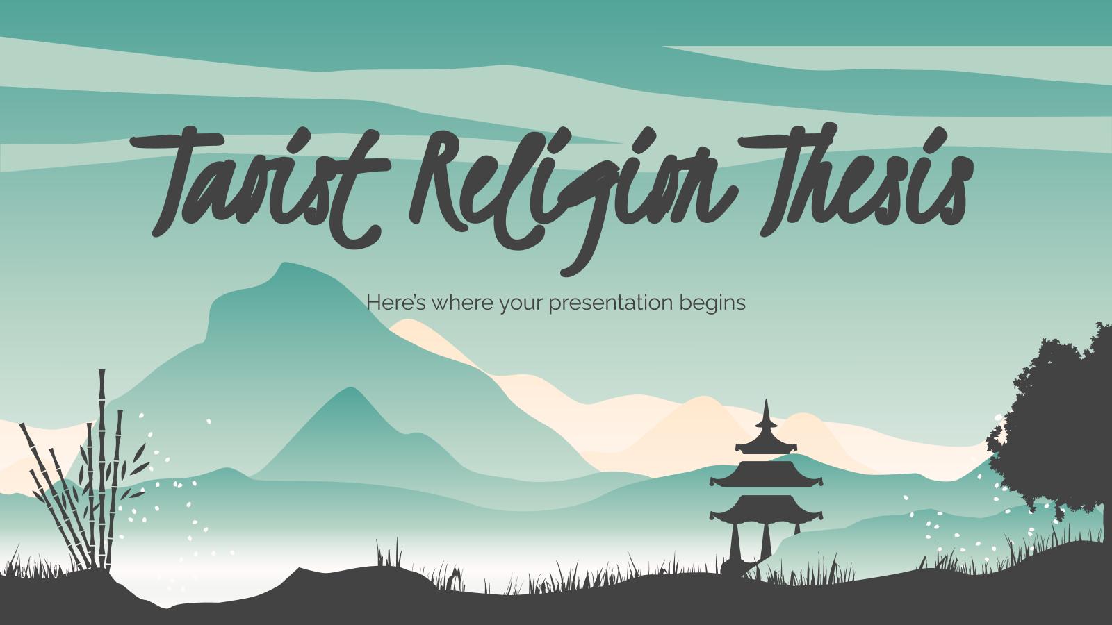 Modelo de apresentação Tese sobre o taoísmo