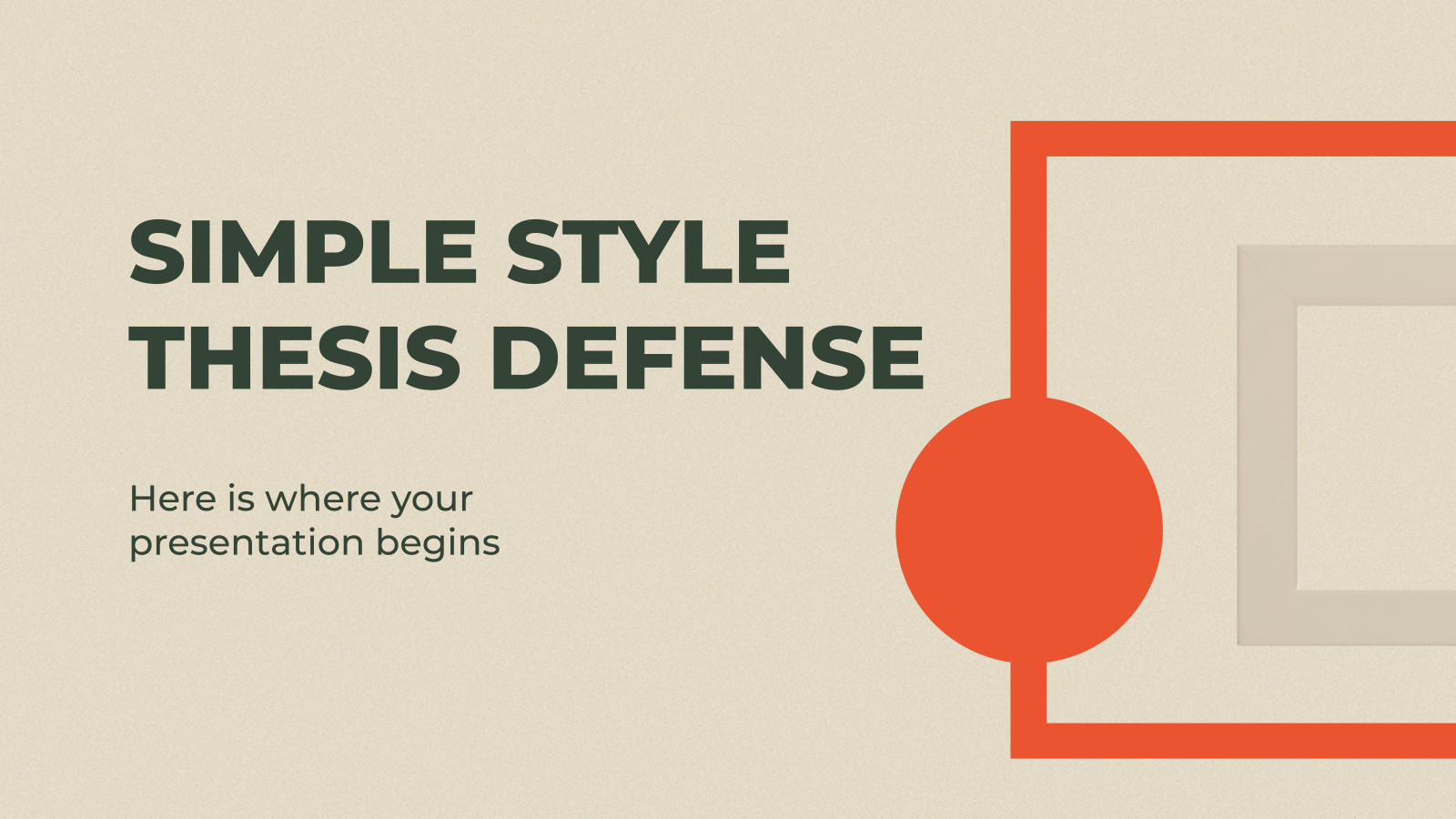 Simple Style Thesis Defense presentation template