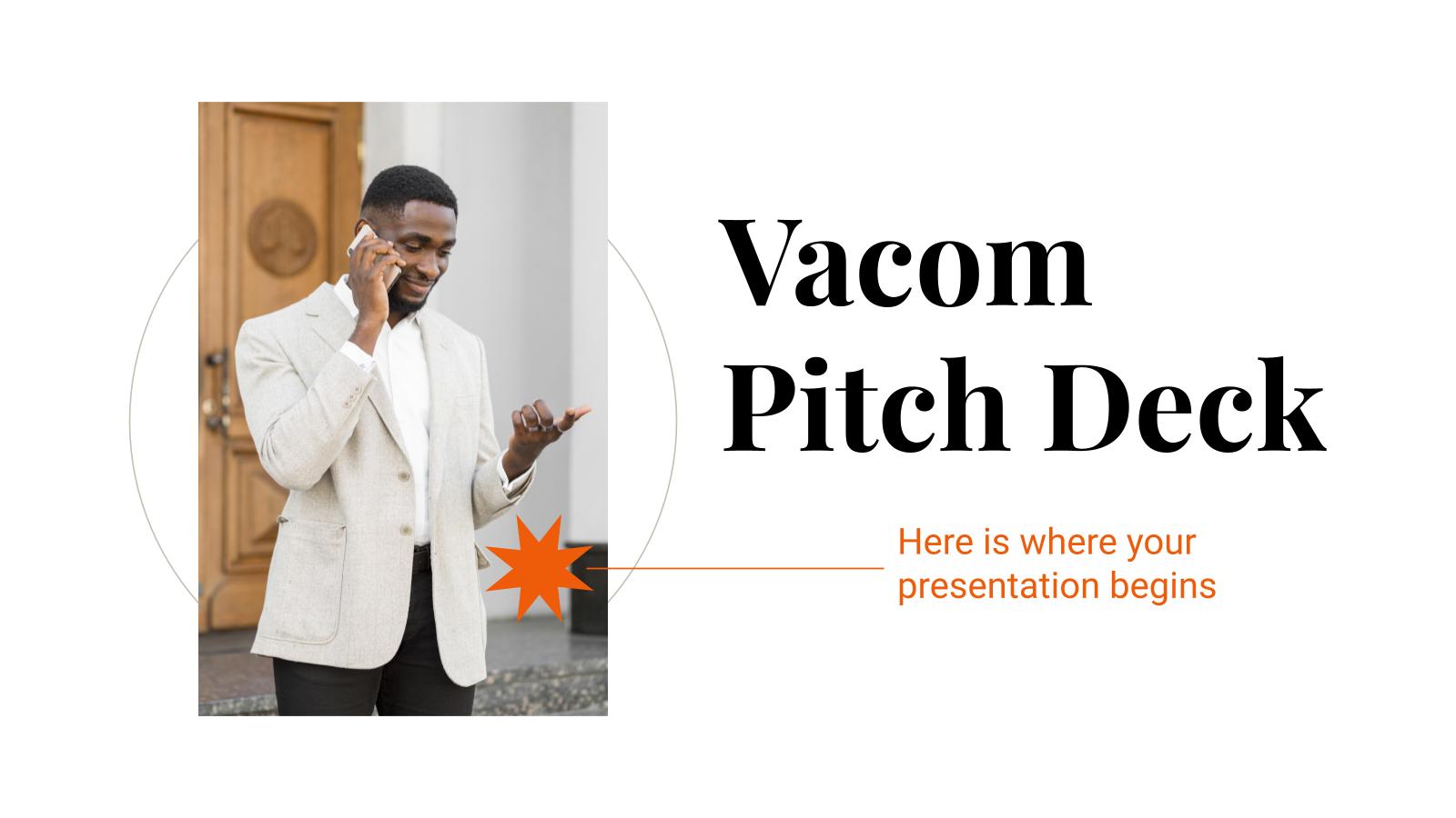 Pitch Deck Vacom : Modèles de présentation
