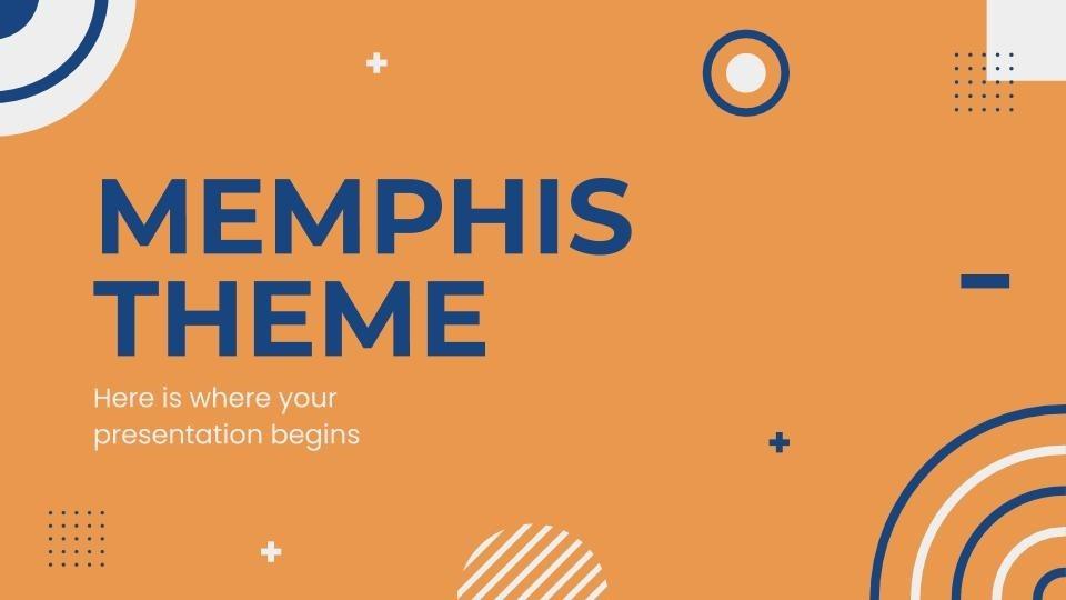 Plantilla de presentación Tema Memphis