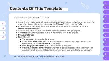 Cool magic agenda presentation template
