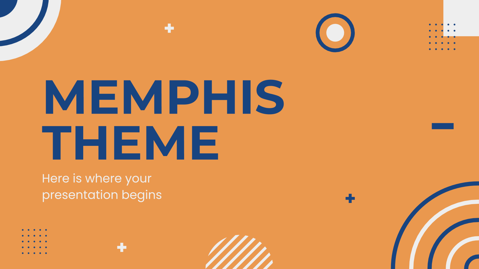 Memphis Themes presentation template