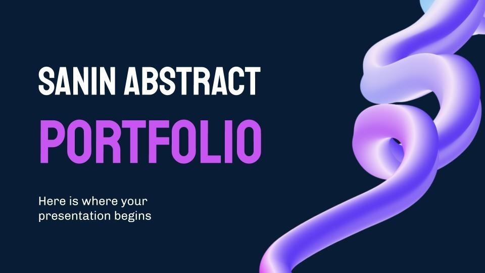Sanin abstract portfolio presentation template