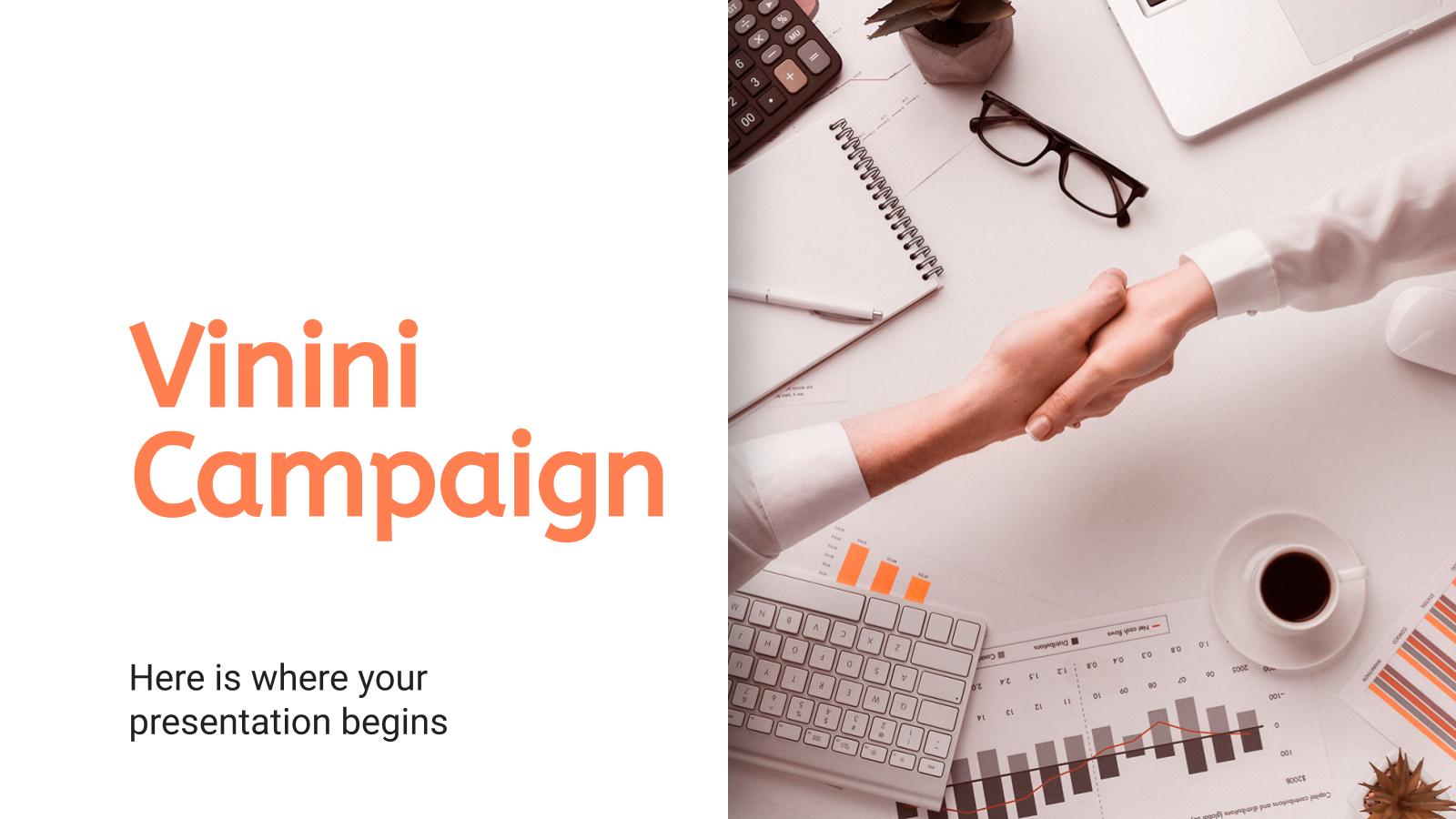 Campagne Vinini : Modèles de présentation