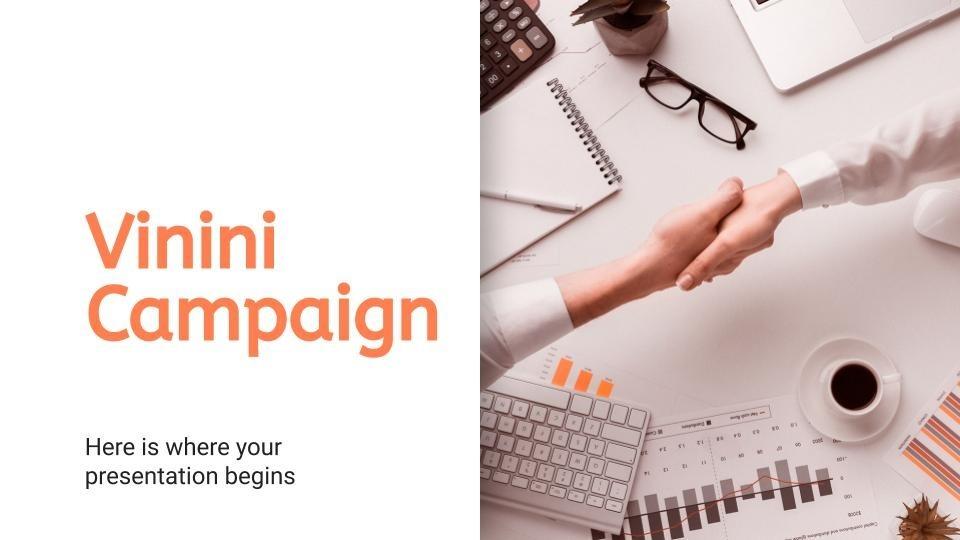 Modelo de apresentação Campanha Vinini