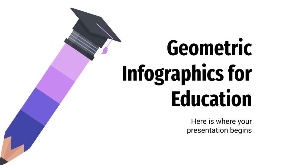 Geometric infographics for education presentation template