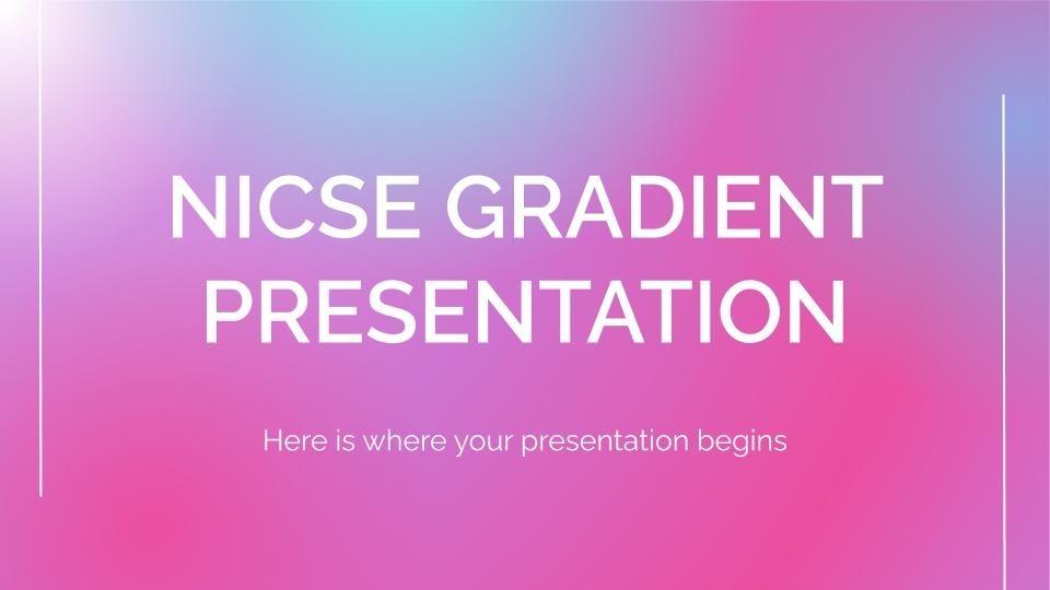 Modelo de apresentação Apresentação degradê Nicse