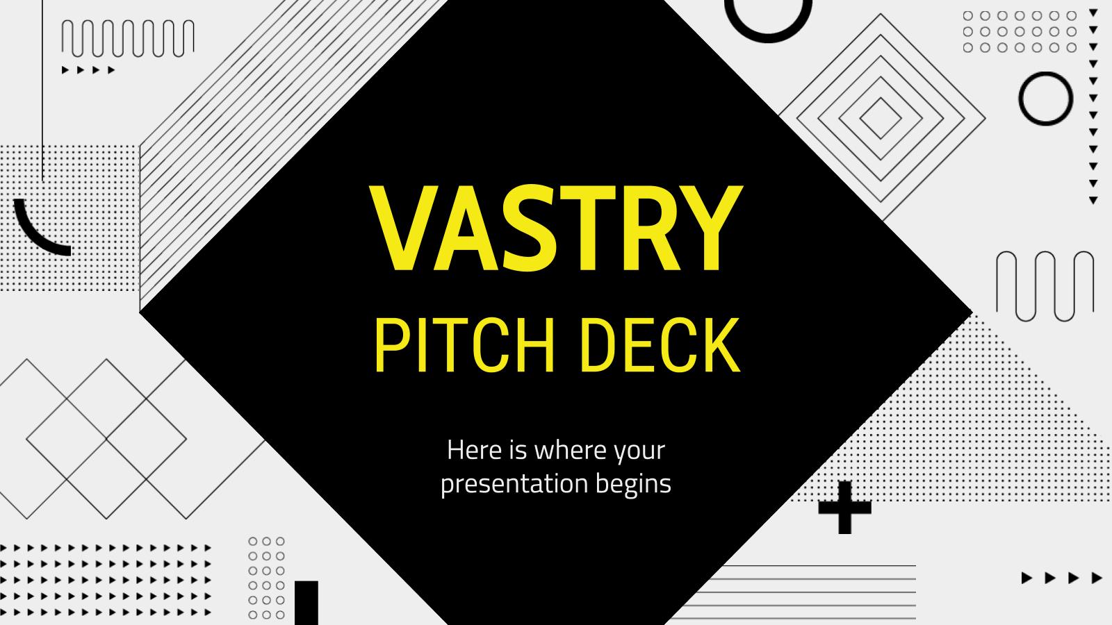 Plantilla de presentación Pitch deck Vastry
