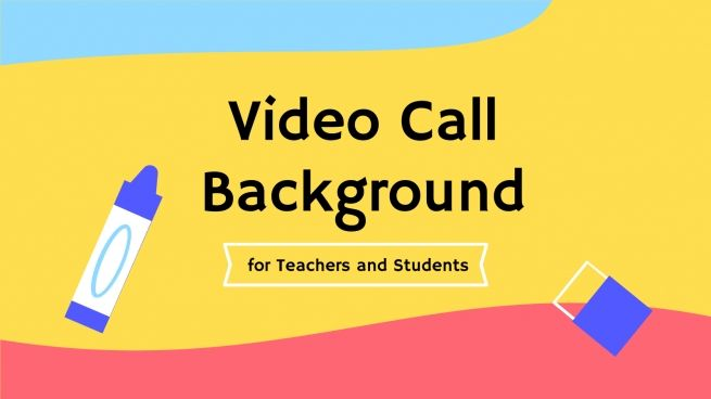 Video Call Background for Teacher & Students presentation template