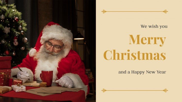 Elegant Christmas cards collection presentation template