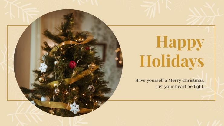 Elegante Weihnachtskarten Kollektion Präsentationsvorlage