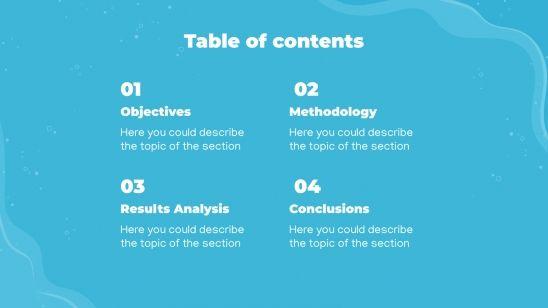 Thèse sur l'eau : Modèles de présentation