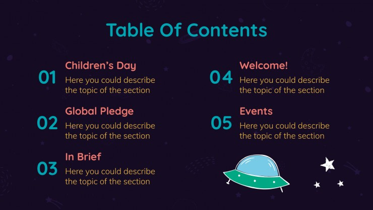 World Children's Day Newsletter presentation template