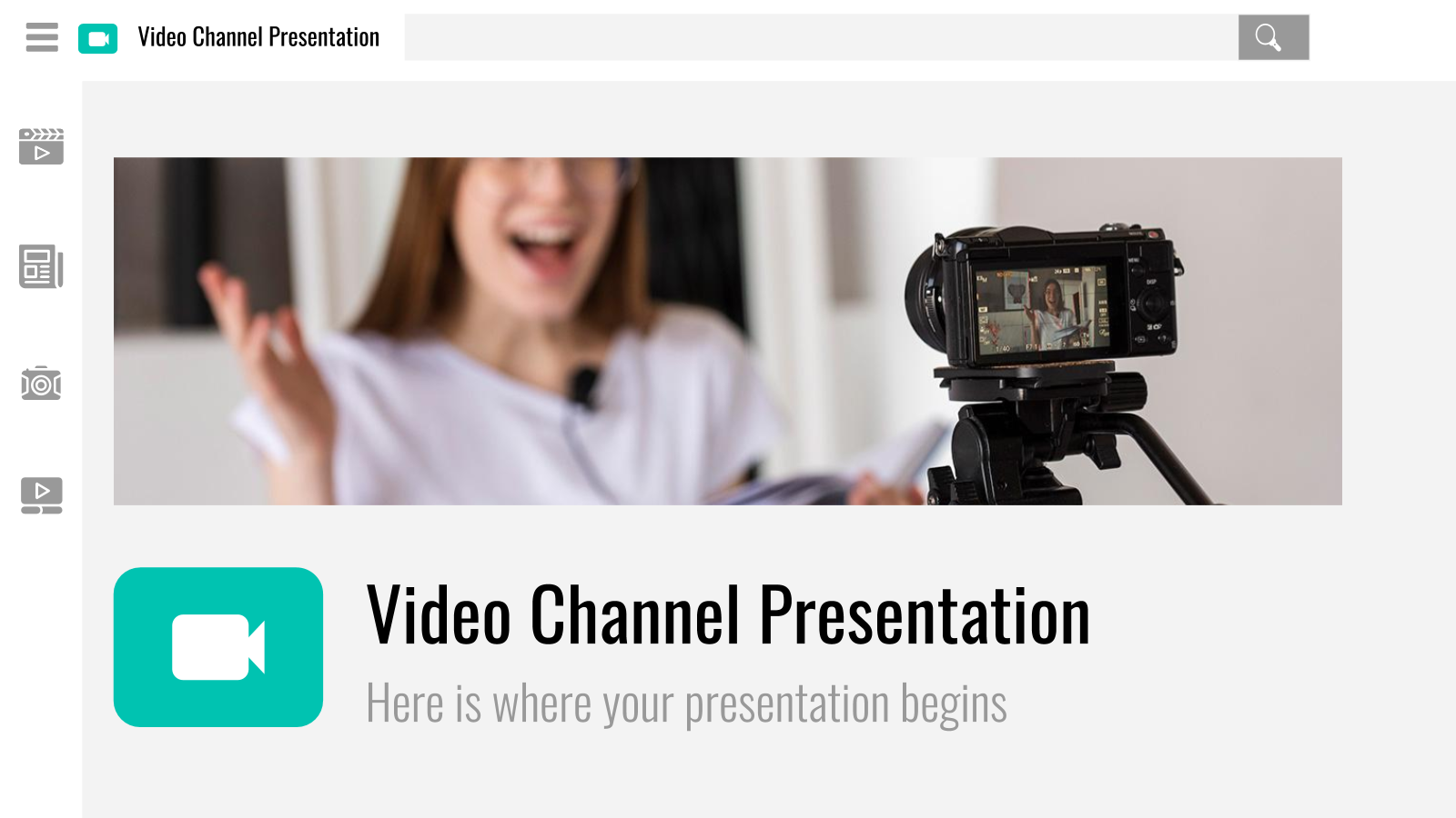 Video Channel presentation template