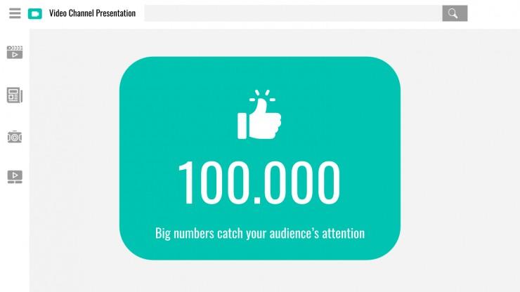 Plantilla de presentación Presentación canal video