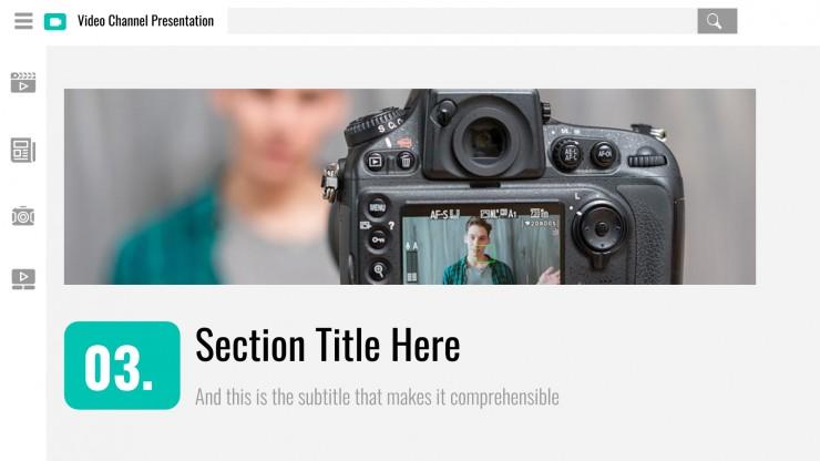 Videokanal Präsentationsvorlage