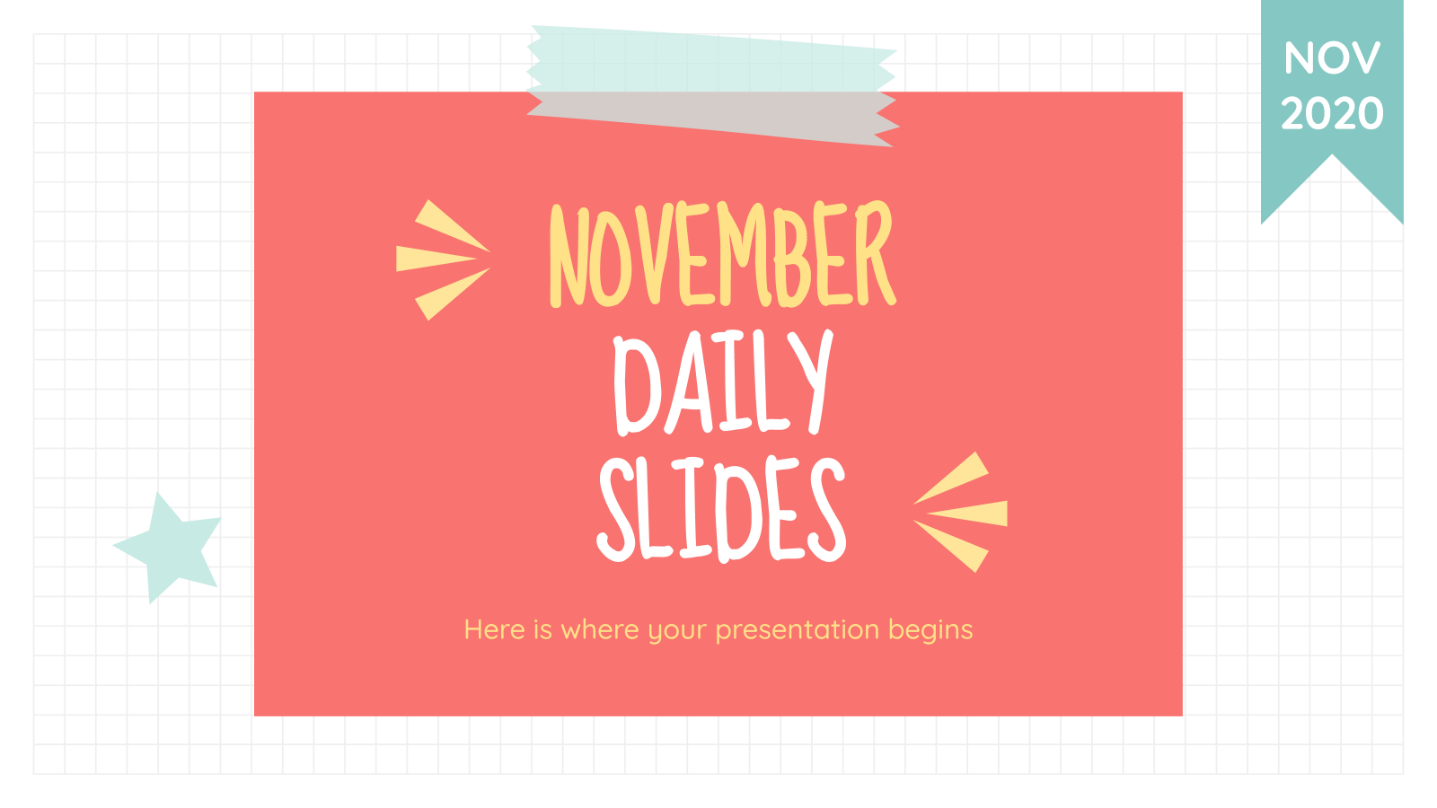 November daily slides presentation template