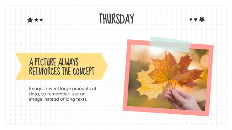 Plantilla de presentación Diapositivas diarias de Noviembre