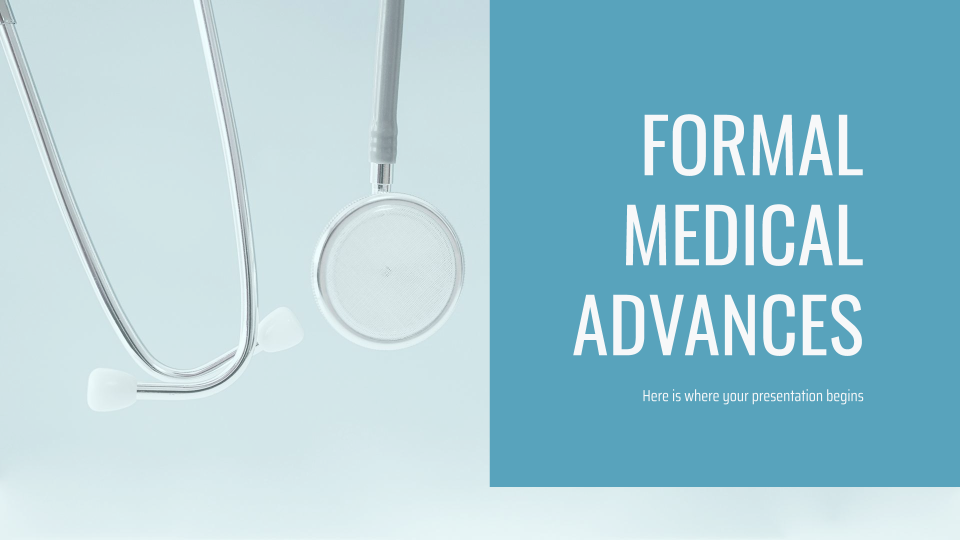 Formal Medical Advances Presentation - Free Google Slides theme and Powerpoint template