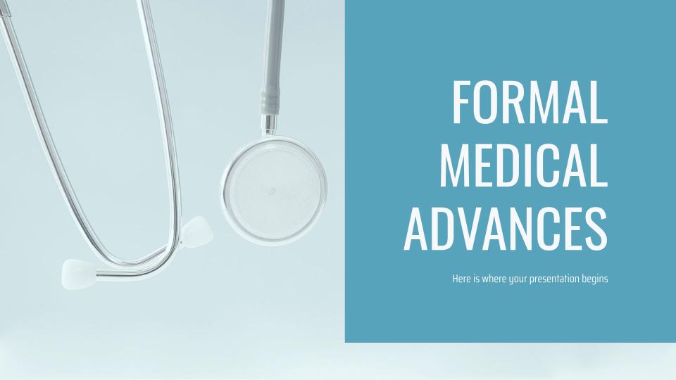 Avances médicales officielles : Modèles de présentation