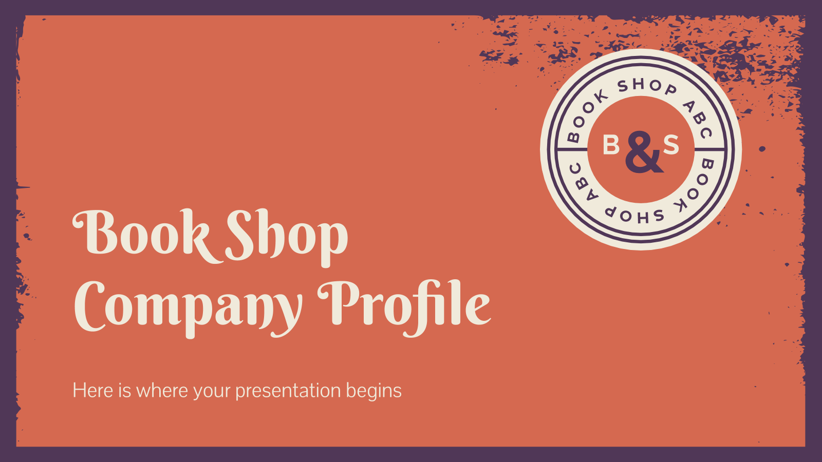Book shop company profile presentation template