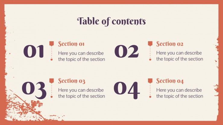 Plantilla de presentación Perfil de empresa de librería