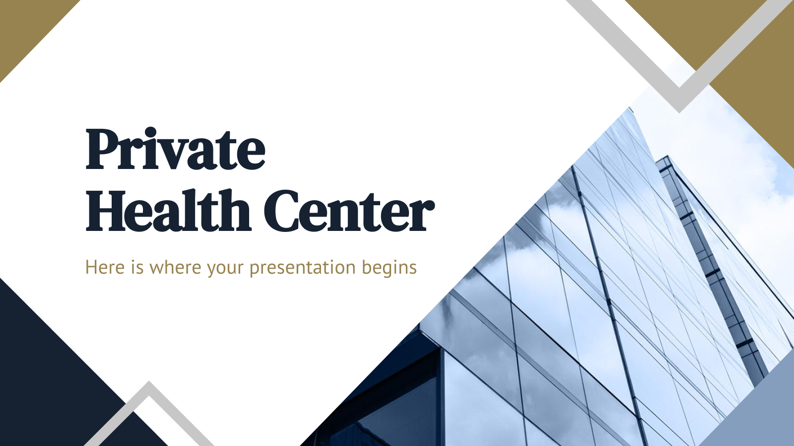 Private health center presentation template