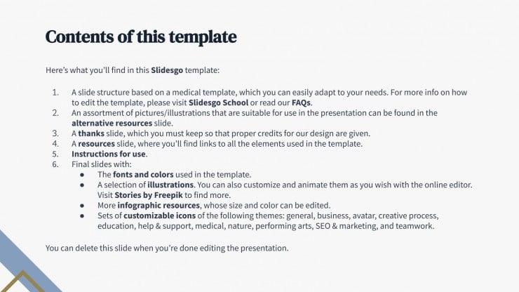 Private health center presentation template