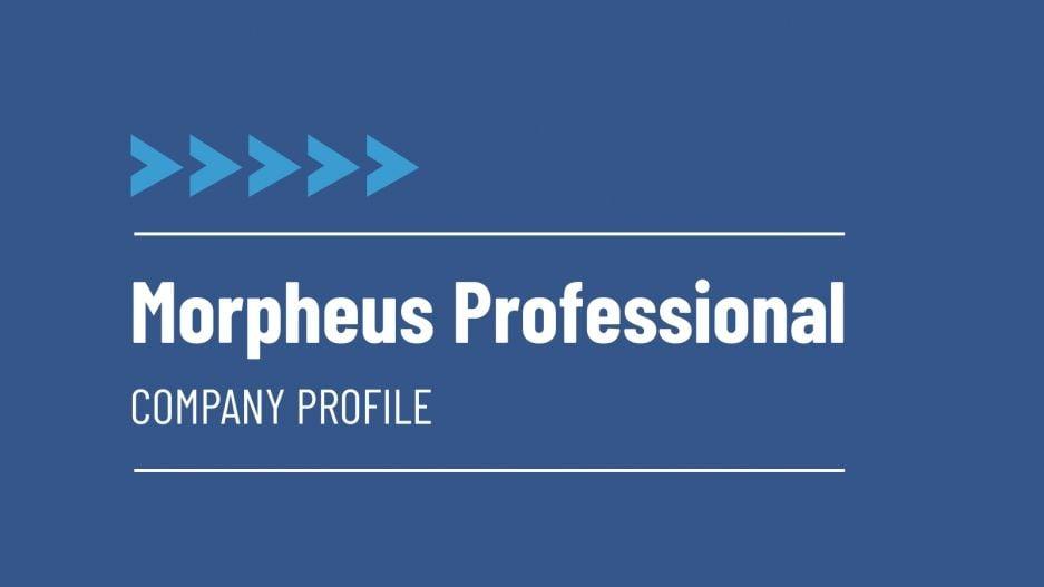 Modelo de apresentação Perfil de empresa Morpheus