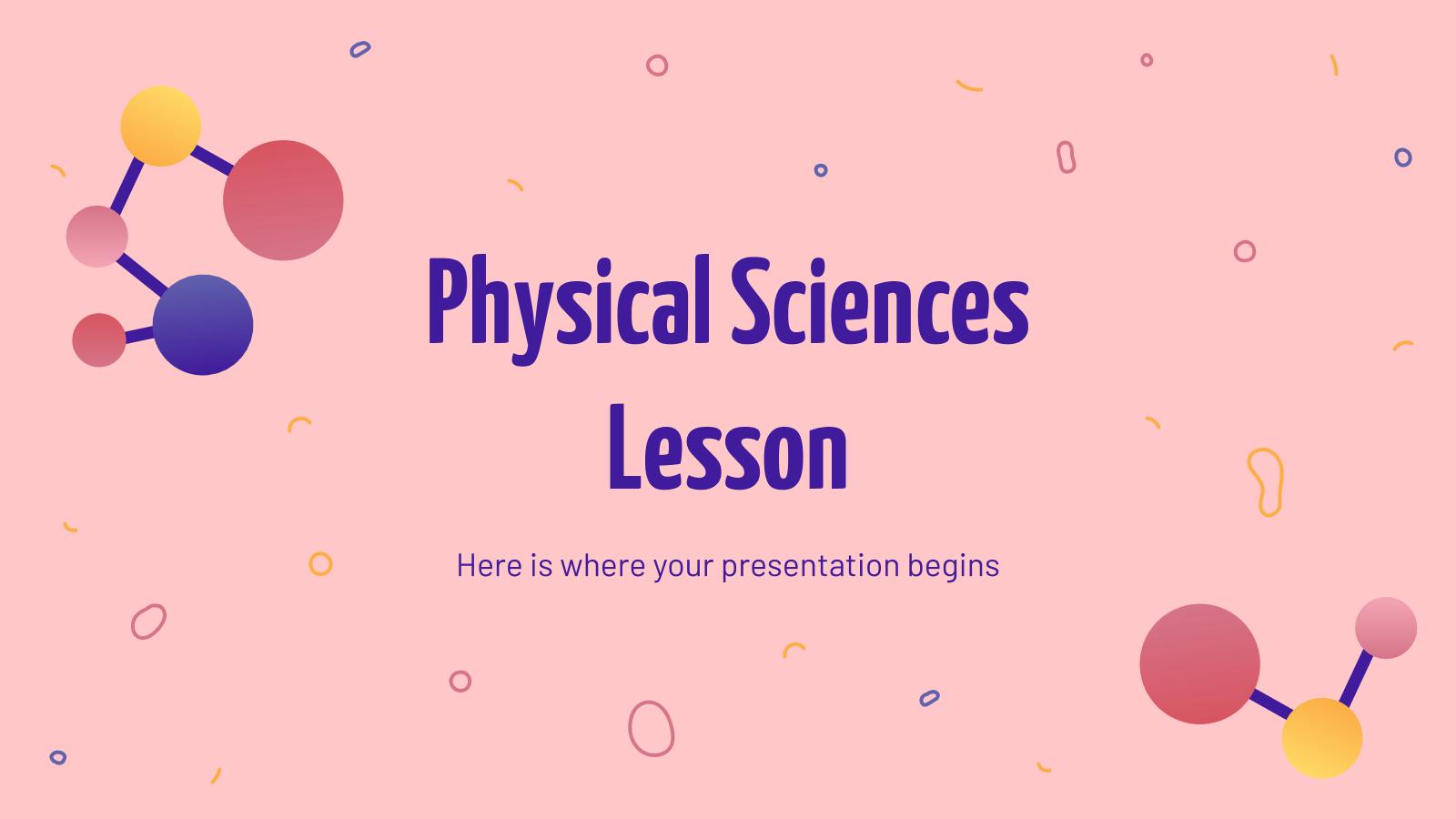 Cours de sciences physiques : Modèles de présentation