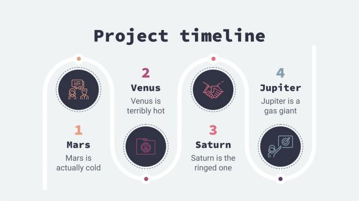 Virtual office meeting presentation template