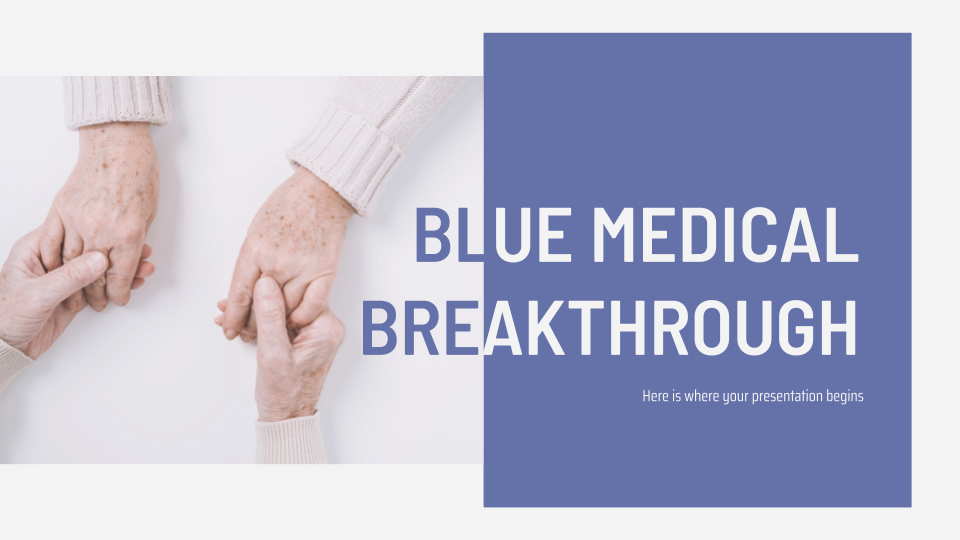 Blue Medical Breakthrough Presentation - Free Google Slides theme and Powerpoint template