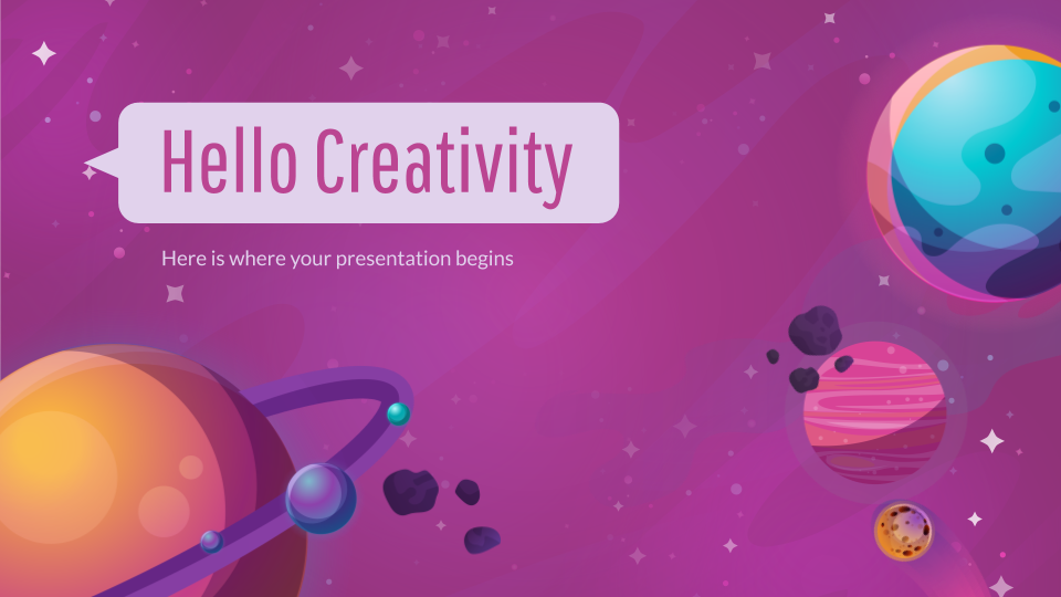 Colorful Galaxy Presentation - Free Google Slides theme and Powerpoint template