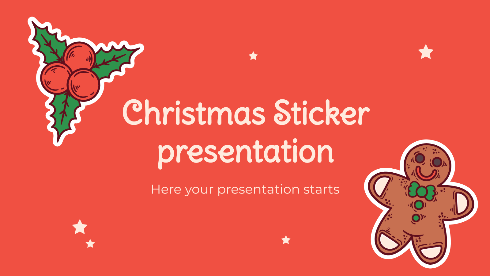 Christmas stickers presentation template